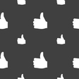 Like Thumb up icon sign Seamless pattern on a gray vector image vector image