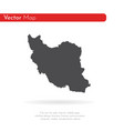 map iran isolated black on vector image vector image