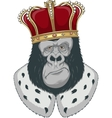Monkey in a crown vector image vector image
