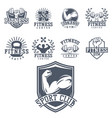 monochrome fitness emblem design element gym sport vector image vector image