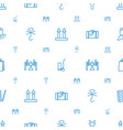 package icons pattern seamless white background vector image vector image