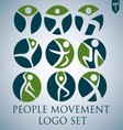 PEOPLE MOVEMENT LOGO SET 1 vector image