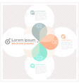 Petal Abstract Design Layout vector image vector image