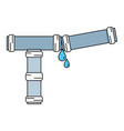 plumbing tube repair equipment construction vector image vector image