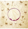 Red wine drops over text paper background vector image vector image