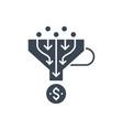 sales funnel glyph icon vector image
