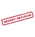 Secret Decision Rubber Stamp vector image vector image