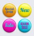 set badges as special offer new sale vector image vector image