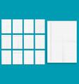 set crumpled standart blank series a format vector image vector image