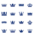 Set of icons crowns vector image