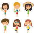 summer female characters vector image