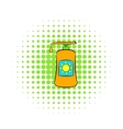 Sunscreen cosmetic icon comics style vector image