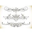 Swirl Floral Vintage Ornaments Decoration vector image