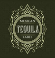 tequila mexican label design template patterned vector image vector image