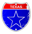 Texas lone star interstate sign vector image