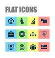 trade icons set with structure bank card growing vector image vector image