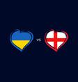 ukraine vs england flag emblems vector image vector image
