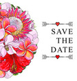 wedding invitation with tropical flowers isolated vector image vector image