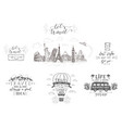 world travel sights and transport set of vector image vector image