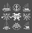 yacht club badges logos and labels vector image