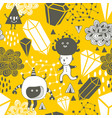 seamless pattern with strange creations and design vector image