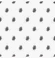 hand drawn hashtag symbol seamless pattern vector image