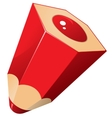Red pencil vector image