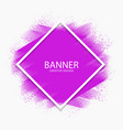 abstract purple paint stroke modern banner vector image