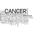 after cancer treatment health tips everyone needs vector image vector image