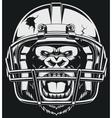 Aggressive gorilla vector image