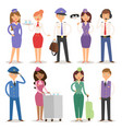airline plane personnel staff vector image