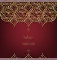 arabesque thai element elegant gold background vector image vector image