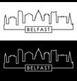 belfast skyline linear style editable file vector image