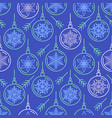 blue seamless pattern with christmas balls vector image vector image