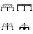 bridge icon set vector image vector image