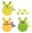 bunny stickers vector image