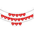 Bunting valentine decoration vector image vector image