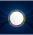 circle white abstract technology blue background v vector image vector image