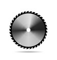 circular saw blade on white background vector image vector image