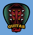 colored logo template ple trum and guitar vector image