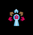 colorful safe house logo design vector image vector image