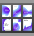 corporate brochure cover design templates set vector image vector image