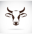 cow head design on white background farm vector image