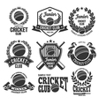 Cricket logo set vector image vector image