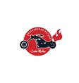 custom motorcycle chopper bike vector image vector image