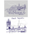 Czech drawing vector image vector image