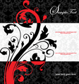 damask card vector image vector image