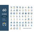 database hosting server icons vector image