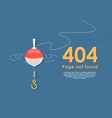 design 404 error template reports that page vector image