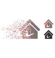 disintegrating pixel halftone smoking room icon vector image vector image